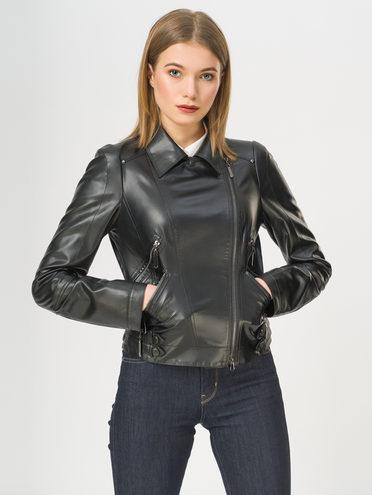 Кожаная куртка эко-кожа 100% П/А, цвет черный, арт. 18809924  - цена 5590 руб.  - магазин TOTOGROUP