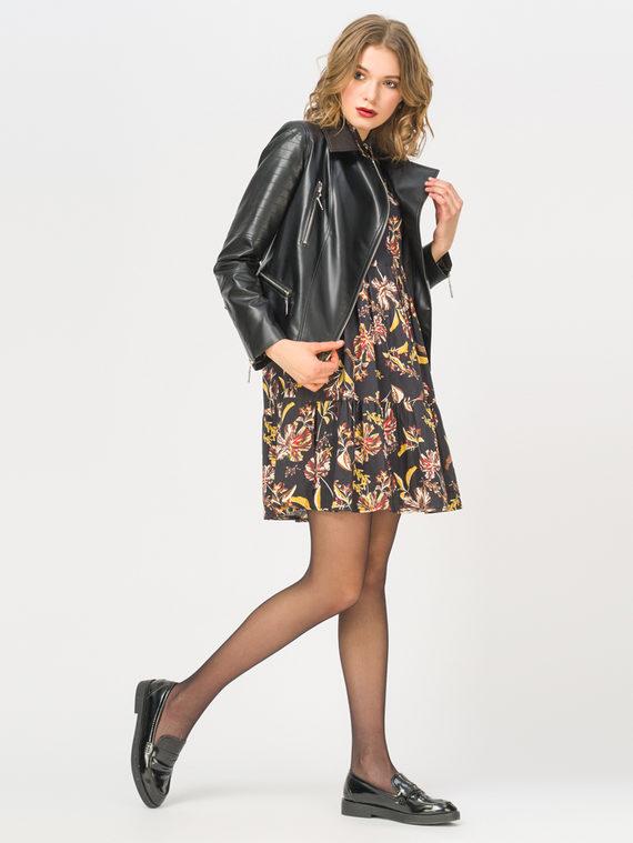 Кожаная куртка эко-кожа 100% П/А, цвет черный, арт. 18809928  - цена 3990 руб.  - магазин TOTOGROUP