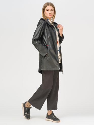 Кожаное пальто эко-кожа 100% П/А, цвет черный, арт. 18809939  - цена 6290 руб.  - магазин TOTOGROUP