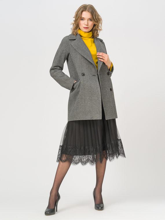 Текстильная куртка 35% шерсть, 65% полиэстер, цвет черный, арт. 18809972  - цена 6290 руб.  - магазин TOTOGROUP