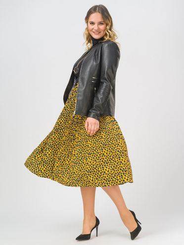 Кожаная куртка эко-кожа 100% П/А, цвет черный, арт. 18810019  - цена 3390 руб.  - магазин TOTOGROUP