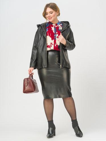 Кожаная куртка эко-кожа 100% П/А, цвет черный, арт. 18810020  - цена 3390 руб.  - магазин TOTOGROUP
