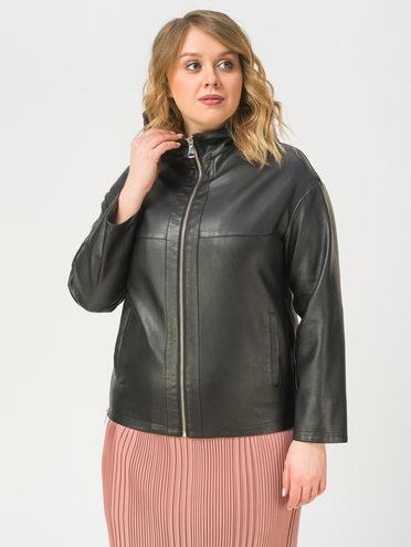 Кожаная куртка эко-кожа 100% П/А, цвет черный, арт. 18810021  - цена 3990 руб.  - магазин TOTOGROUP