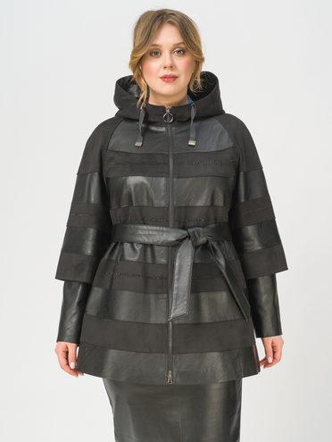 Кожаная куртка эко-замша 100% П/А, цвет черный, арт. 18810024  - цена 7990 руб.  - магазин TOTOGROUP