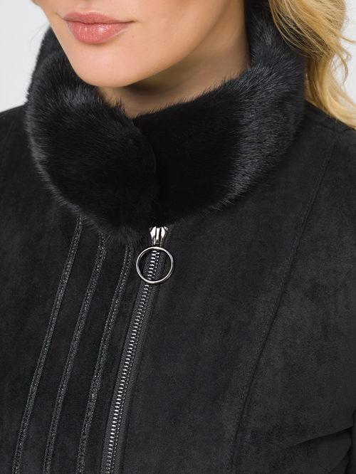 Кожаное пальто артикул 18810026/46 - фото 4