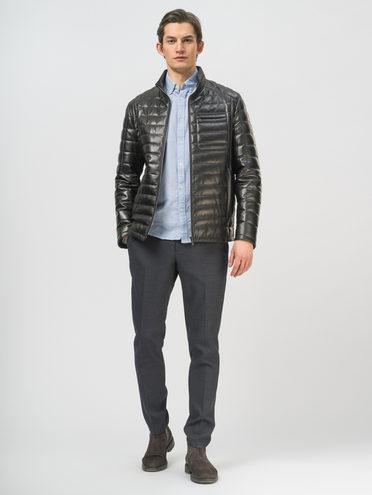Кожаная куртка кожа, цвет черный, арт. 18810029  - цена 14990 руб.  - магазин TOTOGROUP
