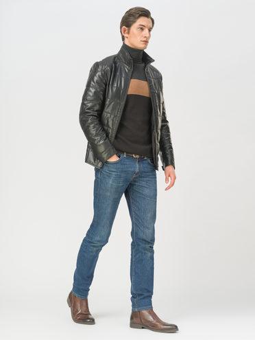 Кожаная куртка эко-кожа 100% П/А, цвет черный, арт. 18810033  - цена 9990 руб.  - магазин TOTOGROUP