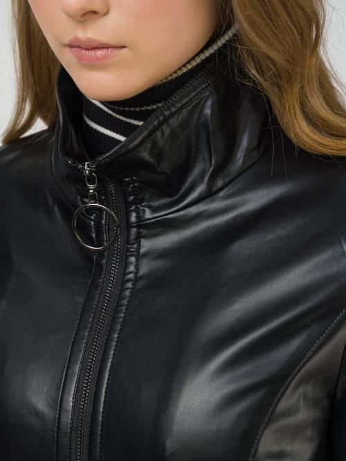 Кожаное пальто артикул 18810038/42 - фото 3