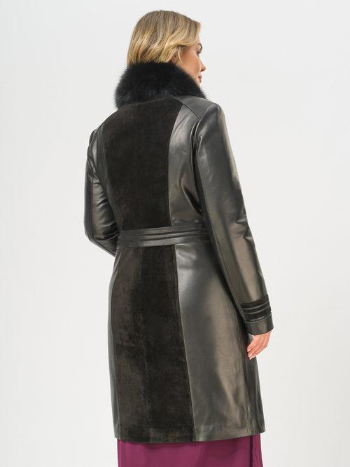 Кожаное пальто артикул 18810049/46 - фото 3