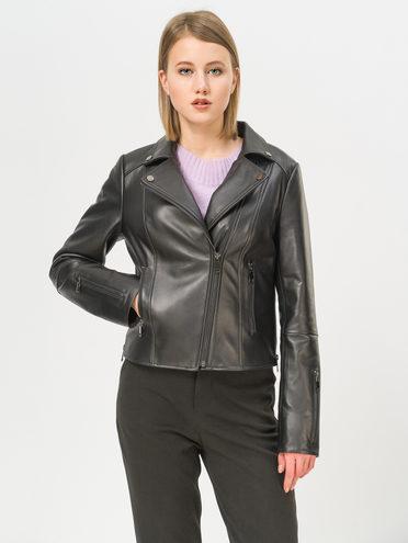 Кожаная куртка кожа , цвет черный, арт. 18810063  - цена 12690 руб.  - магазин TOTOGROUP