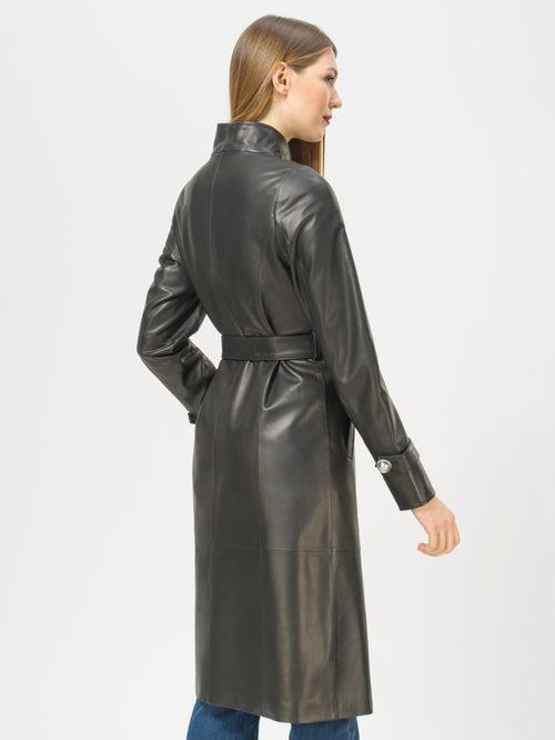 Кожаное пальто артикул 18810064/42 - фото 3