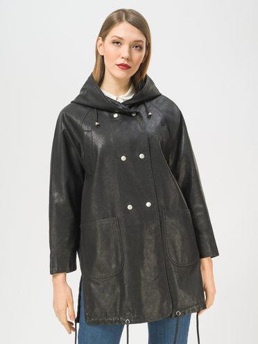 Кожаное пальто эко-кожа 100% П/А, цвет черный, арт. 18810068  - цена 4990 руб.  - магазин TOTOGROUP