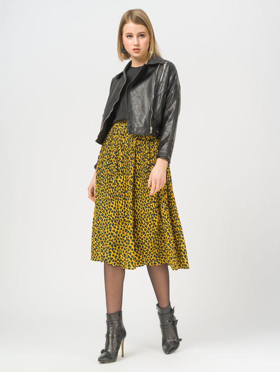 Кожаная куртка эко-кожа 100% П/А, цвет черный, арт. 18810076  - цена 2990 руб.  - магазин TOTOGROUP