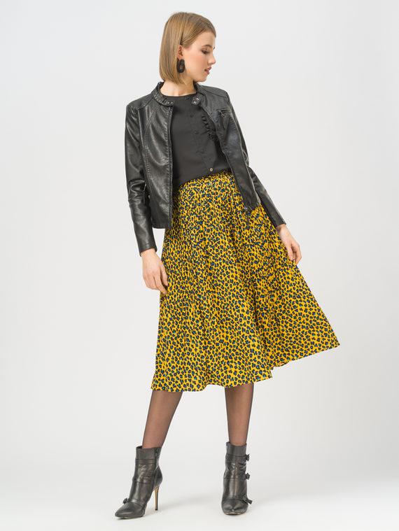 Кожаная куртка эко-кожа 100% П/А, цвет черный, арт. 18810077  - цена 4490 руб.  - магазин TOTOGROUP