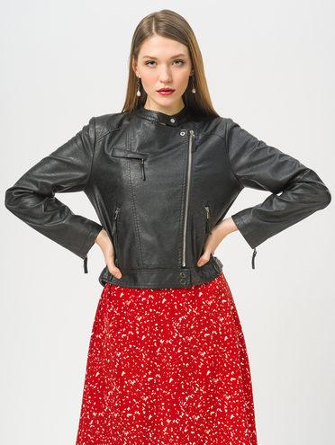 Кожаная куртка эко-кожа 100% П/А, цвет черный, арт. 18810080  - цена 3190 руб.  - магазин TOTOGROUP