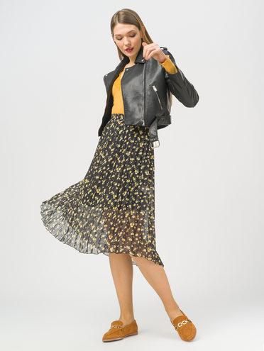 Кожаная куртка эко-кожа 100% П/А, цвет черный, арт. 18810120  - цена 3990 руб.  - магазин TOTOGROUP