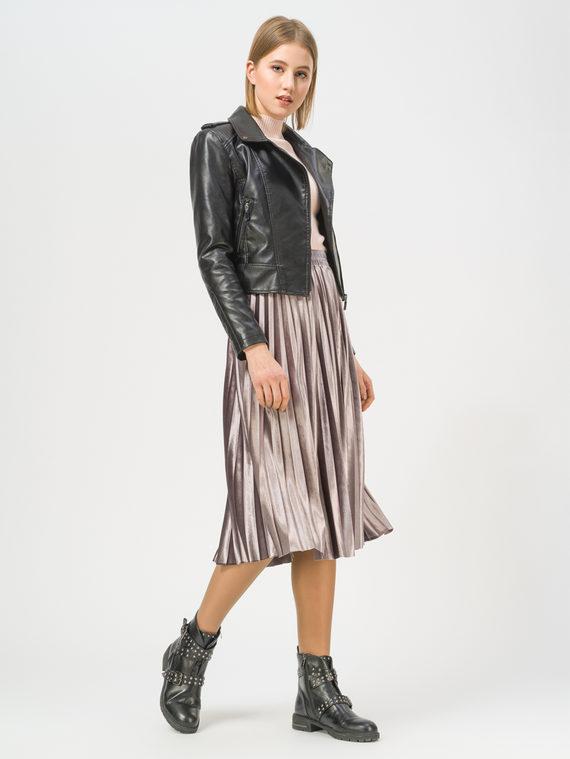 Кожаная куртка эко-кожа 100% П/А, цвет черный, арт. 18810126  - цена 3790 руб.  - магазин TOTOGROUP