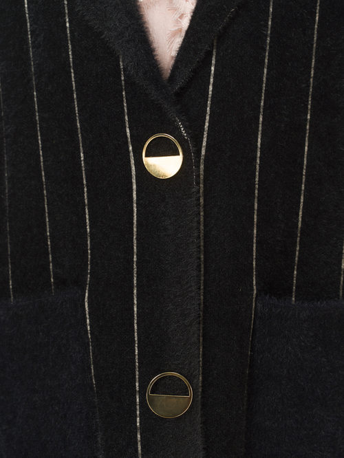 Текстильное пальто артикул 18810134/44 - фото 4
