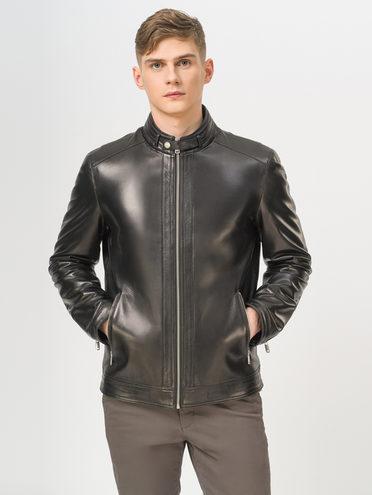 Кожаная куртка кожа, цвет черный, арт. 18810170  - цена 18990 руб.  - магазин TOTOGROUP