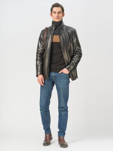 Кожаная куртка кожа, цвет черный, арт. 18810171  - цена 21290 руб.  - магазин TOTOGROUP