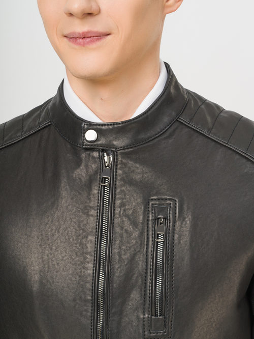 Кожаная куртка артикул 18810173/46 - фото 4