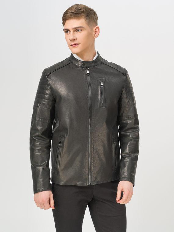 Кожаная куртка кожа, цвет черный, арт. 18810173  - цена 15990 руб.  - магазин TOTOGROUP