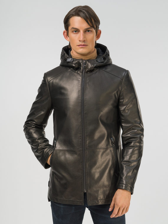 Кожаная куртка кожа баран, цвет черный, арт. 18810192  - цена 19990 руб.  - магазин TOTOGROUP