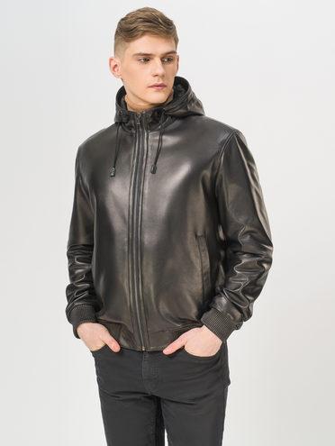 Кожаная куртка кожа баран, цвет черный, арт. 18810193  - цена 14990 руб.  - магазин TOTOGROUP