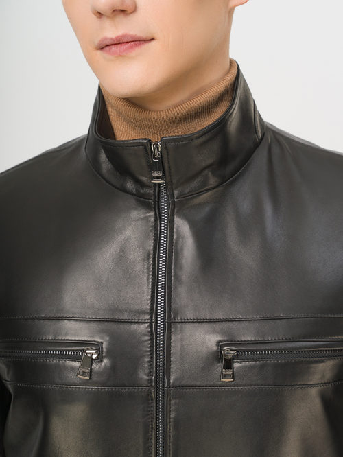 Кожаная куртка артикул 18810195/46 - фото 4