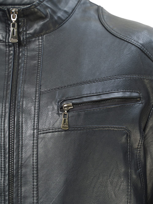 Кожаная куртка артикул 18810208/46 - фото 3