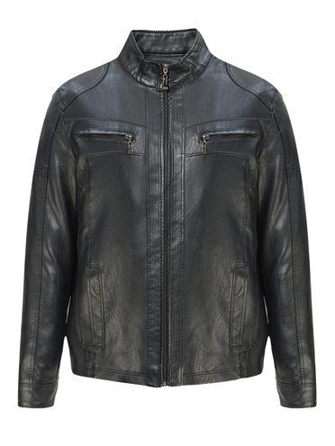 Кожаная куртка эко-кожа 100% П/А, цвет черный, арт. 18810208  - цена 2990 руб.  - магазин TOTOGROUP