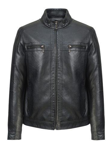 Кожаная куртка эко-кожа 100% П/А, цвет черный, арт. 18810209  - цена 2990 руб.  - магазин TOTOGROUP