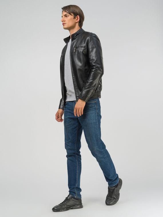 Кожаная куртка эко-кожа 100% П/А, цвет черный, арт. 18810210  - цена 2990 руб.  - магазин TOTOGROUP