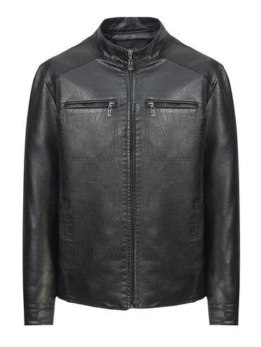 Кожаная куртка эко-кожа 100% П/А, цвет черный, арт. 18810213  - цена 3190 руб.  - магазин TOTOGROUP