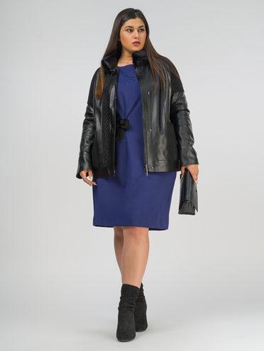 Кожаная куртка эко-кожа 100% П/А, цвет черный, арт. 18810214  - цена 9990 руб.  - магазин TOTOGROUP