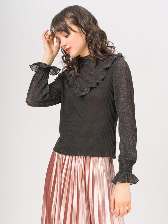Блуза , цвет черный, арт. 18810255  - цена 940 руб.  - магазин TOTOGROUP