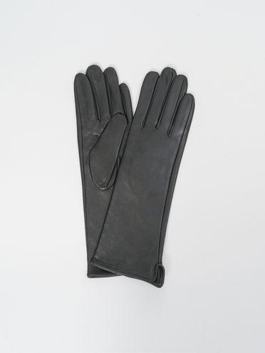 Перчатки кожа, цвет черный, арт. 18810317  - цена 1850 руб.  - магазин TOTOGROUP