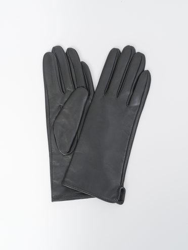 Перчатки кожа, цвет черный, арт. 18810318  - цена 1490 руб.  - магазин TOTOGROUP
