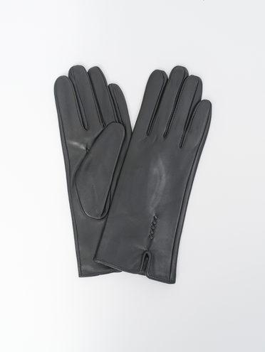 Перчатки кожа, цвет черный, арт. 18810323  - цена 1490 руб.  - магазин TOTOGROUP