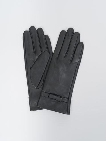 Перчатки кожа, цвет черный, арт. 18810327  - цена 1490 руб.  - магазин TOTOGROUP