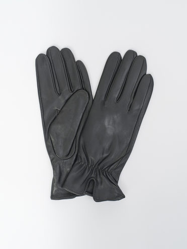 Перчатки кожа, цвет черный, арт. 18810328  - цена 1130 руб.  - магазин TOTOGROUP