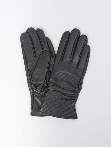 Перчатки кожа, цвет черный, арт. 18810329  - цена 1190 руб.  - магазин TOTOGROUP
