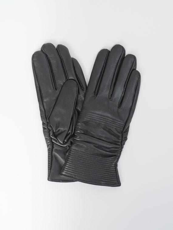 Перчатки кожа, цвет черный, арт. 18810329  - цена 840 руб.  - магазин TOTOGROUP