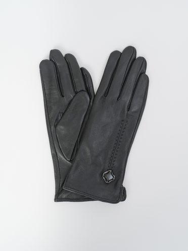 Перчатки кожа, цвет черный, арт. 18810330  - цена 1190 руб.  - магазин TOTOGROUP