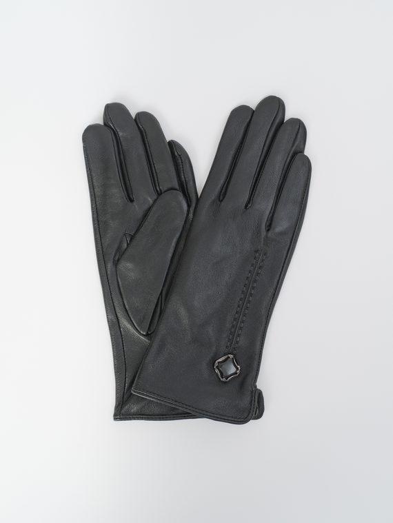 Перчатки кожа, цвет черный, арт. 18810330  - цена 890 руб.  - магазин TOTOGROUP