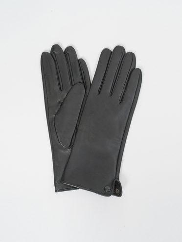 Перчатки кожа, цвет черный, арт. 18810333  - цена 1490 руб.  - магазин TOTOGROUP
