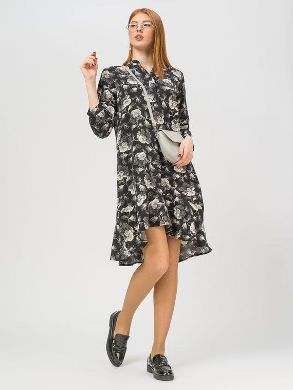 Платье 65% полиэстер, 35% хлопок, цвет черный, арт. 18810334  - цена 1410 руб.  - магазин TOTOGROUP