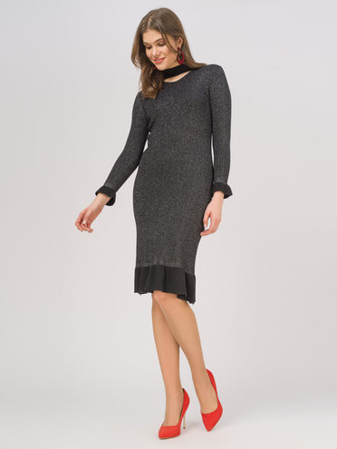 Платье 50% вискоза, 28% полиэстер, 22% нейлон, цвет черный, арт. 18810343  - цена 2290 руб.  - магазин TOTOGROUP