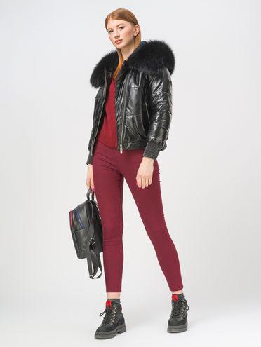 Кожаная куртка эко-кожа 100% П/А, цвет черный, арт. 18810414  - цена 7990 руб.  - магазин TOTOGROUP