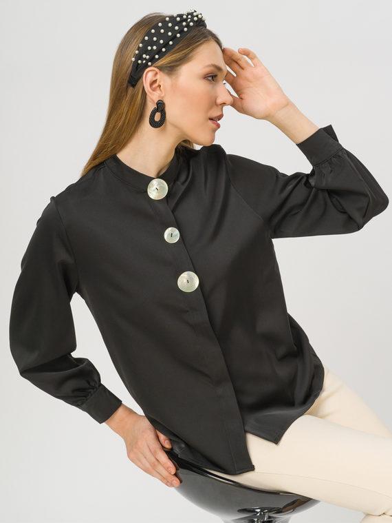 Блуза 100% полиэстер, цвет черный, арт. 18810444  - цена 1410 руб.  - магазин TOTOGROUP